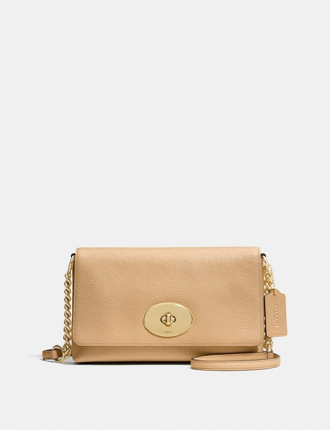 Coach Crosstown Crossbody Nude/Light Gold
