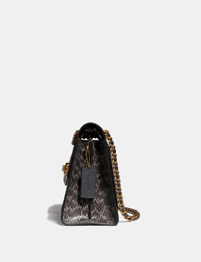 Coach Parker in Signature Leather With Rivets Brass/Black Women Bags Signature Bags Alternate View 1
