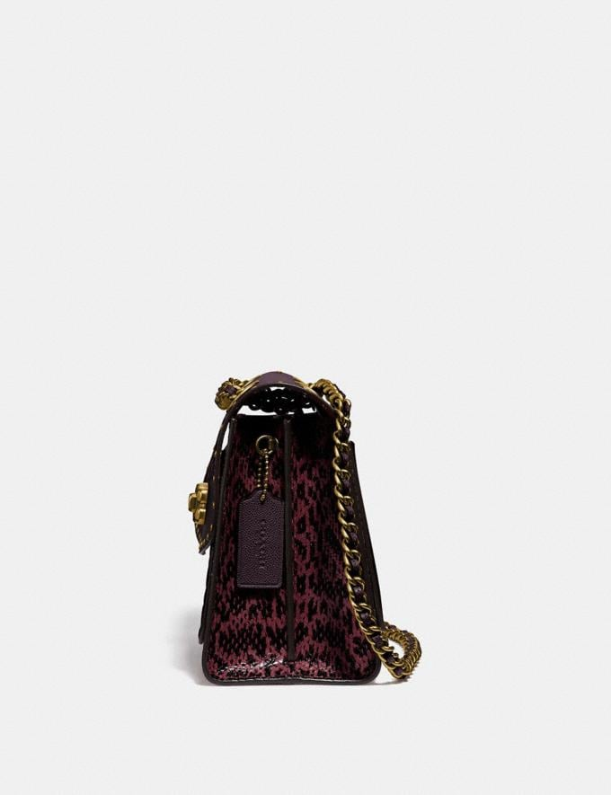 Coach Parker in Signature Leather With Rivets Oxblood Multi/Brass Women Bags Alternate View 1