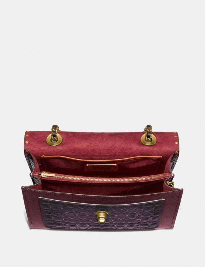 Coach Parker in Signature Leather With Rivets Oxblood Multi/Brass Women Bags Alternate View 2