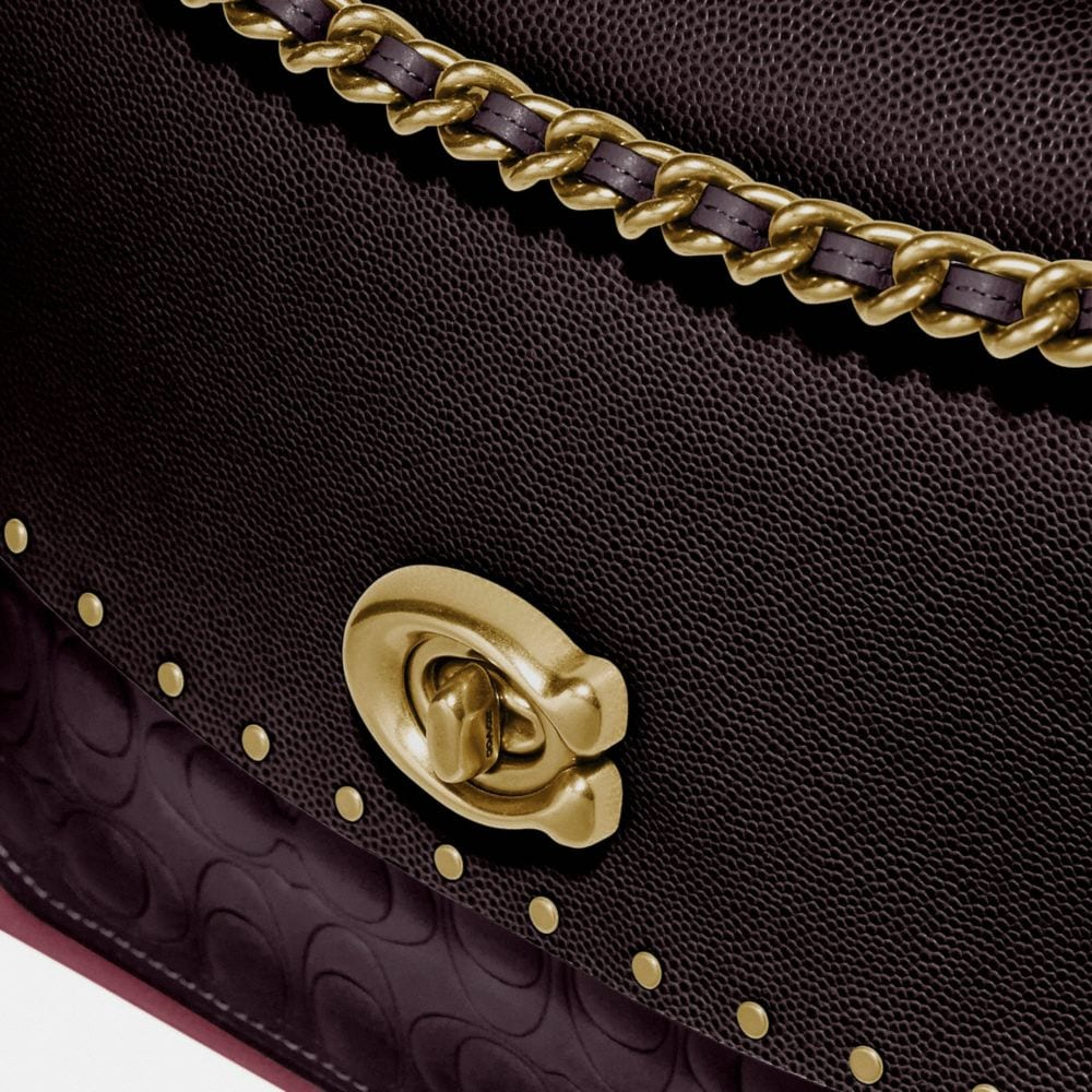 Coach Parker in Signature Leather With Rivets Alternate View 5