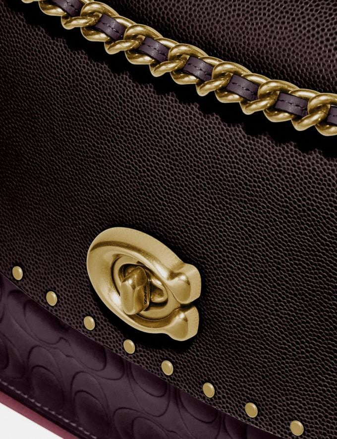 Coach Parker in Signature Leather With Rivets Oxblood Multi/Brass Women Bags Alternate View 5