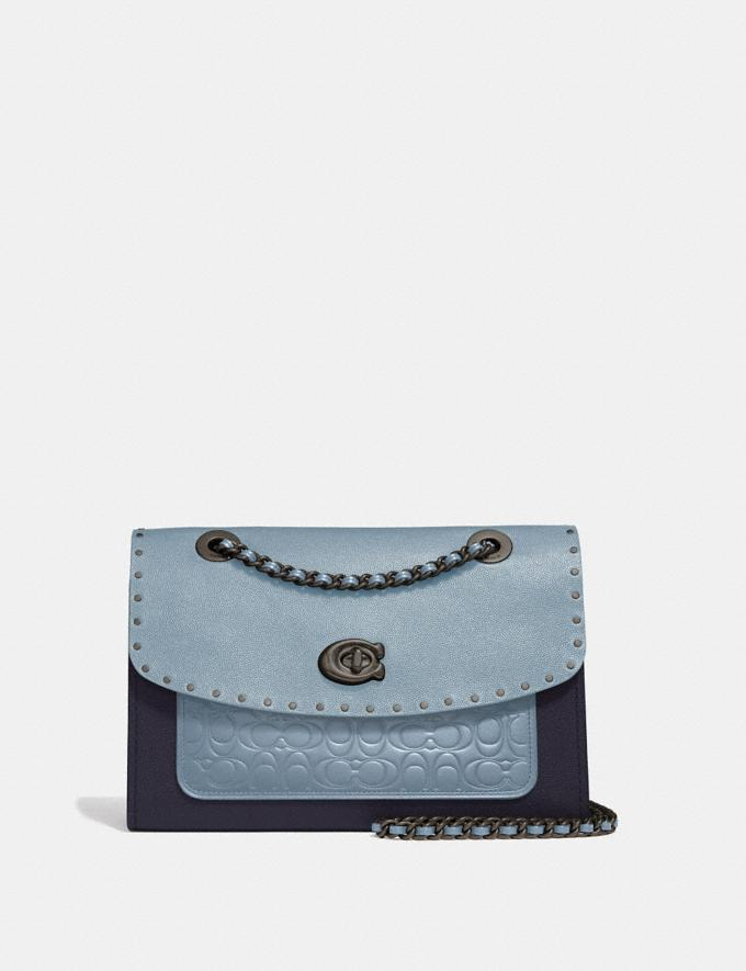 Coach Parker in Signature Leather With Rivets Pewter/Mist Multi New Women's New Arrivals View All