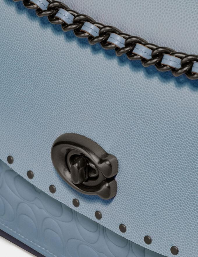 Coach Parker in Signature Leather With Rivets Pewter/Mist Multi New Women's New Arrivals View All Alternate View 7