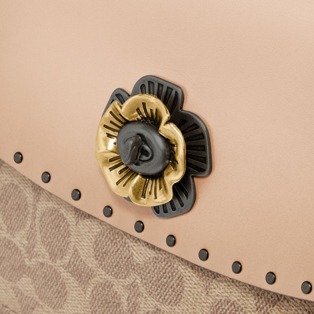 Coach Parker Top Handle in Signature Canvas With Rivets Alternate View 5