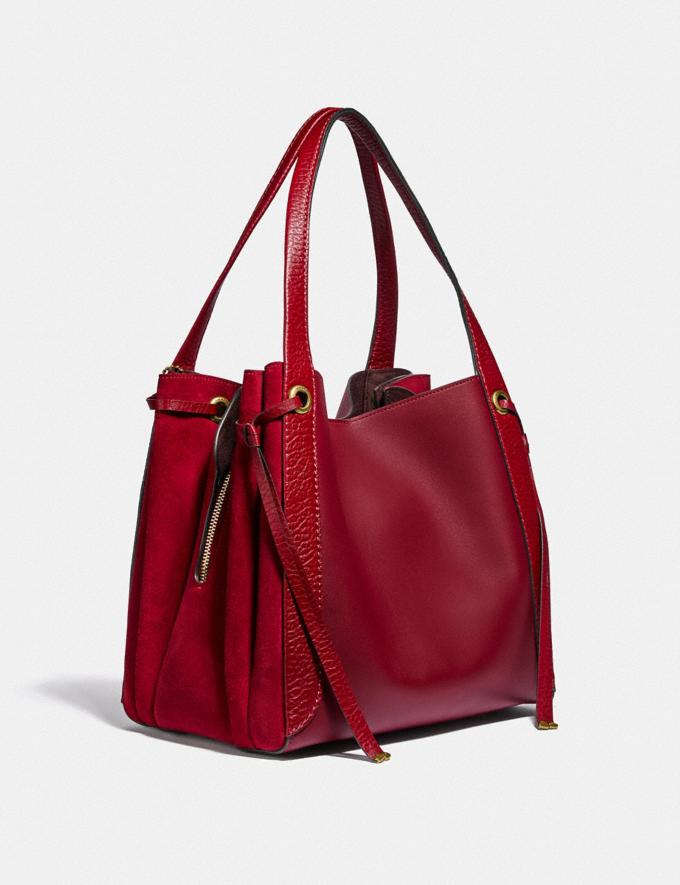 Coach Harmony Hobo Brass/Deep Red SALE 30% off Select Full-Price Styles Women's Alternate View 1