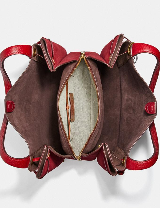 Coach Harmony Hobo Brass/Deep Red SALE 30% off Select Full-Price Styles Women's Alternate View 2