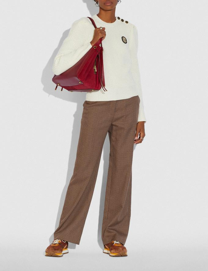 Coach Harmony Hobo Brass/Deep Red SALE 30% off Select Full-Price Styles Women's Alternate View 3