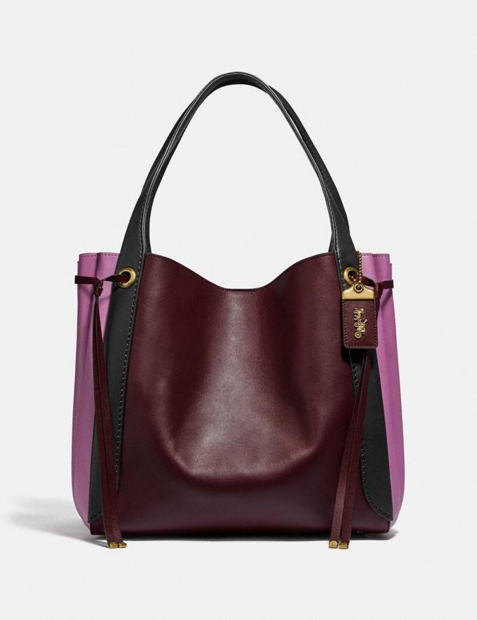 Coach Harmony Hobo in Colorblock Brass/Cranberry Multi Women Edits Your Life, Your Coach