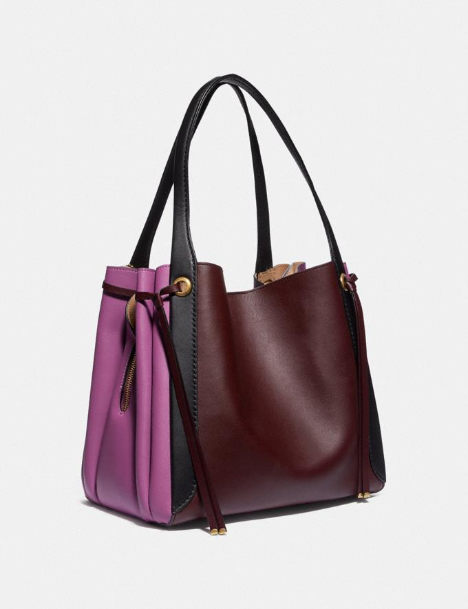 Coach Harmony Hobo in Colorblock Brass/Cranberry Multi Women Edits Your Life, Your Coach Alternate View 1
