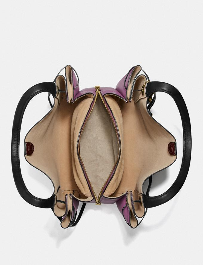 Coach Harmony Hobo in Colorblock Brass/Cranberry Multi Women Edits Your Life, Your Coach Alternate View 2