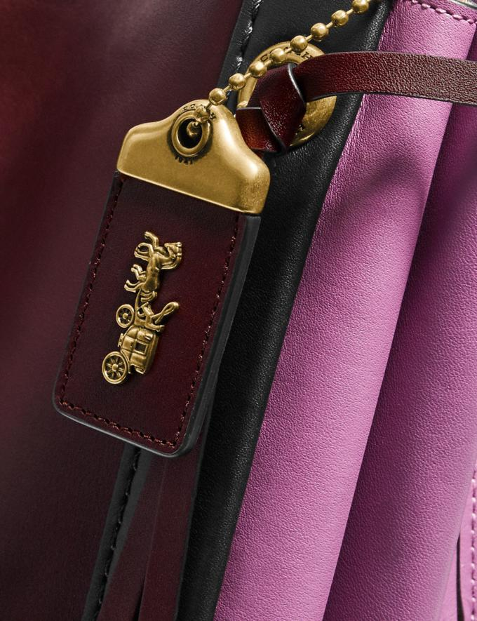 Coach Harmony Hobo in Colorblock Brass/Cranberry Multi Women Edits Your Life, Your Coach Alternate View 3