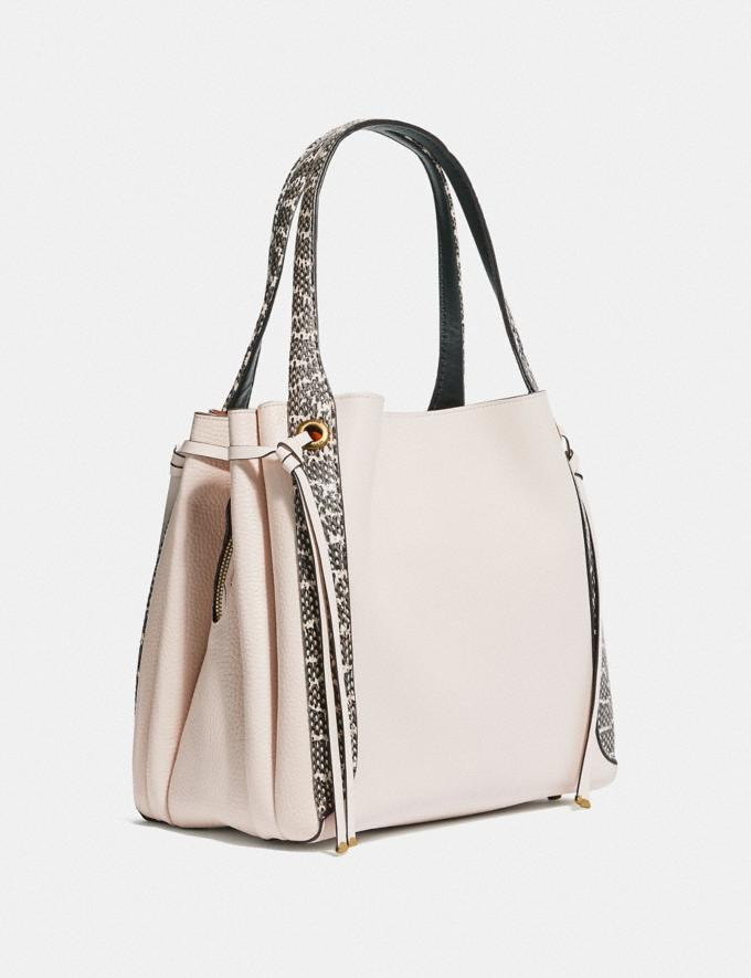 Coach Harmony Hobo in Colorblock With Snakeskin Detail Chalk/Brass Women Handbags Shoulder Bags & Hobos Alternate View 1