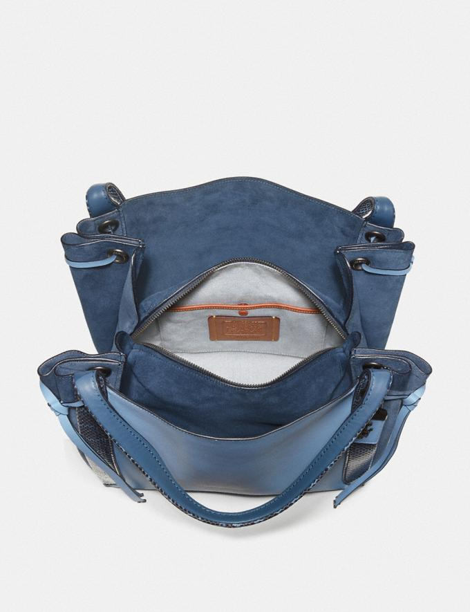 Coach Harmony Hobo in Colorblock With Snakeskin Detail Slate/Pewter New Featured Online-Only Alternate View 2