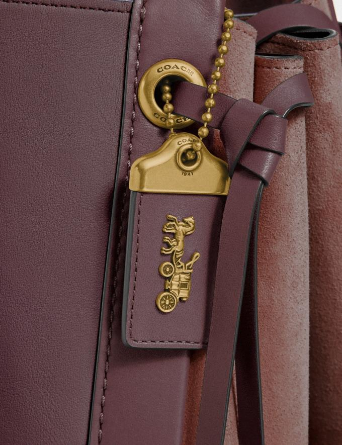 Coach Harmony Hobo 33 in Colorblock Oxblood Multi/Brass Women Bags Shoulder Bags Alternate View 5