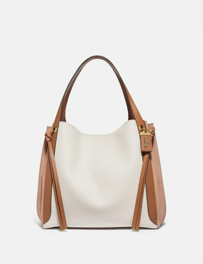 Coach Harmony Hobo 33 in Colorblock Chalk/Brass Women Bags Shoulder Bags