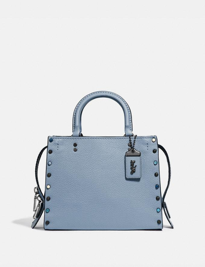 Coach Rogue 25 With Rivets Slate/Pewter Women Collection Rogue