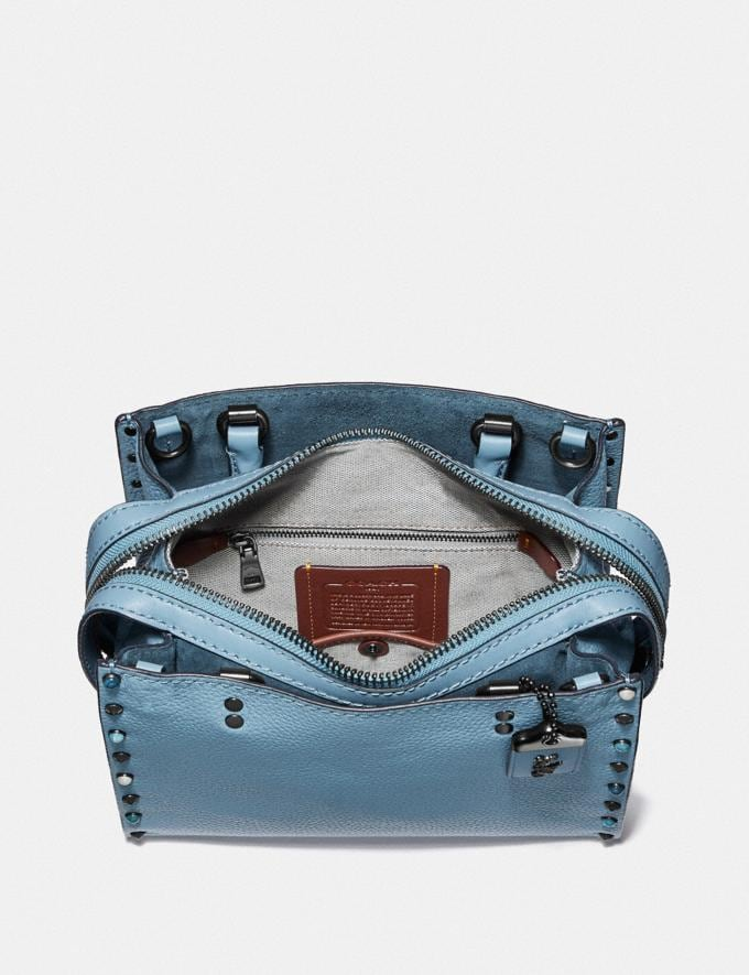 Coach Rogue 25 With Rivets Slate/Pewter Women Collection Rogue Alternate View 2