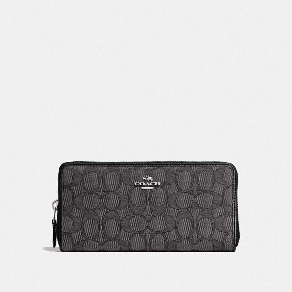Coach Accordion Zip Wallet in Signature Jacquard