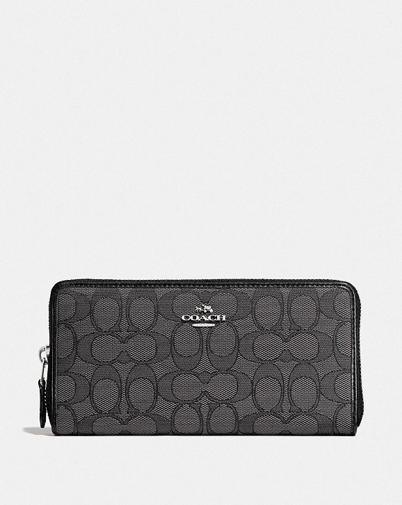 According zip wallet - Black Coach rqN6IlJ