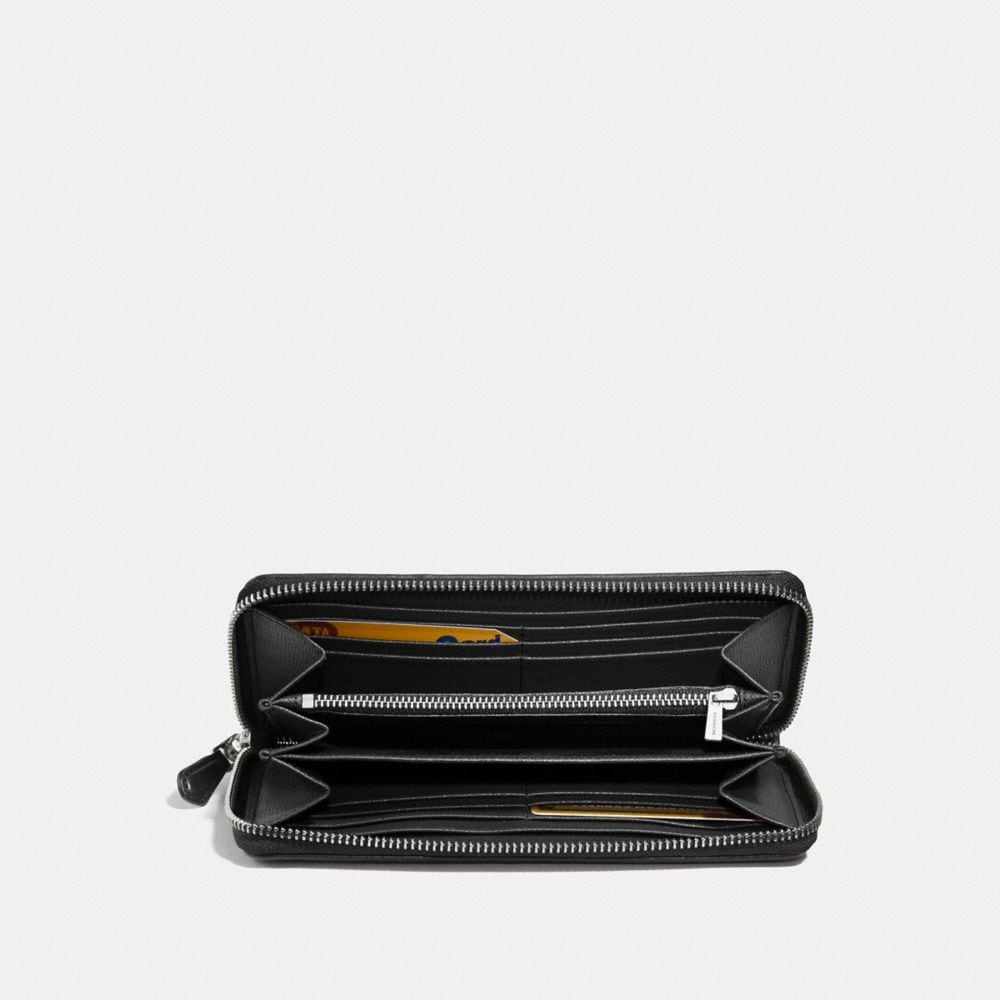 Coach Accordion Zip Wallet in Signature Jacquard Alternate View 1