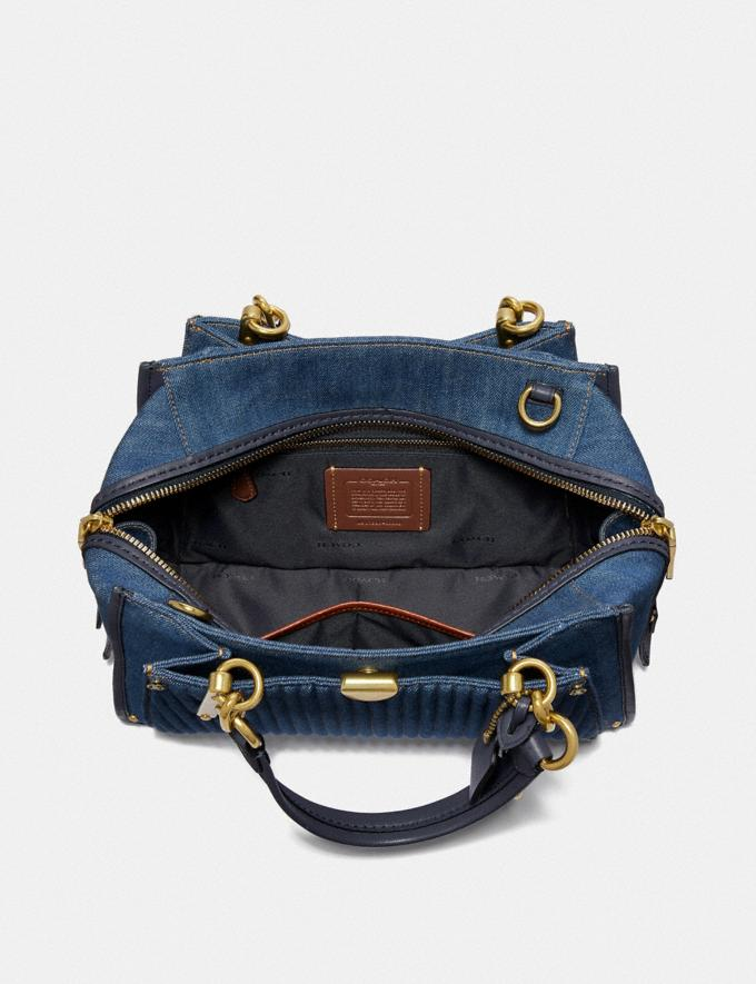Coach Dreamer With Quilting Denim/Brass Women Bags Satchels & Carryalls Alternate View 3