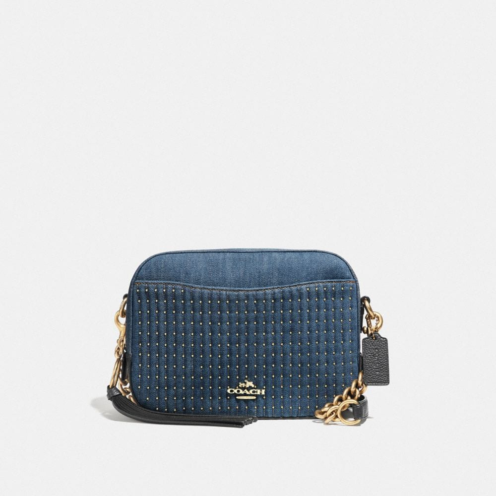 Coach Camera Bag With Quilting and Studs