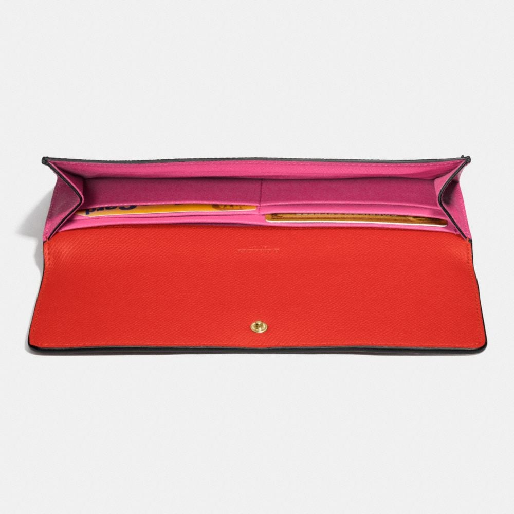 Soft Wallet in Colorblock Leather - Autres affichages L1