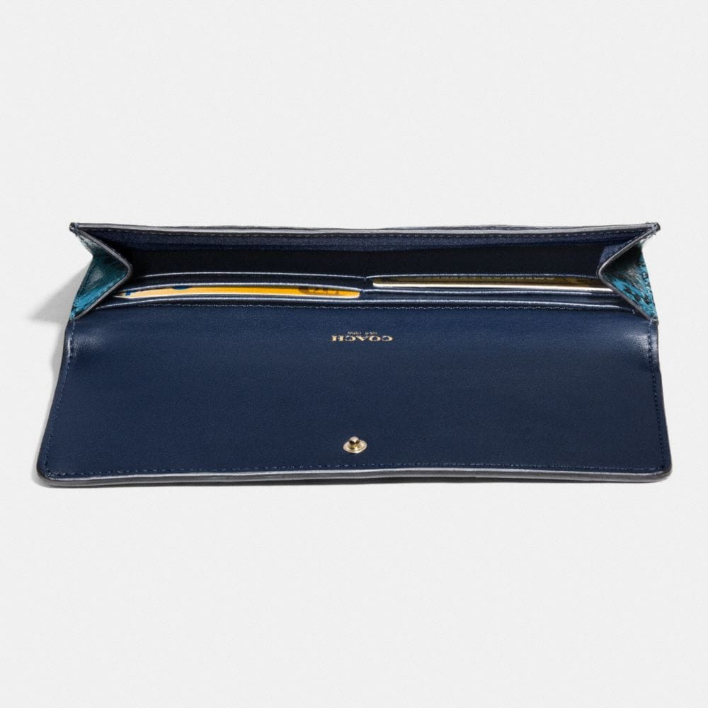 Soft Wallet in Colorblock Exotic Embossed Leather - Alternate View L1