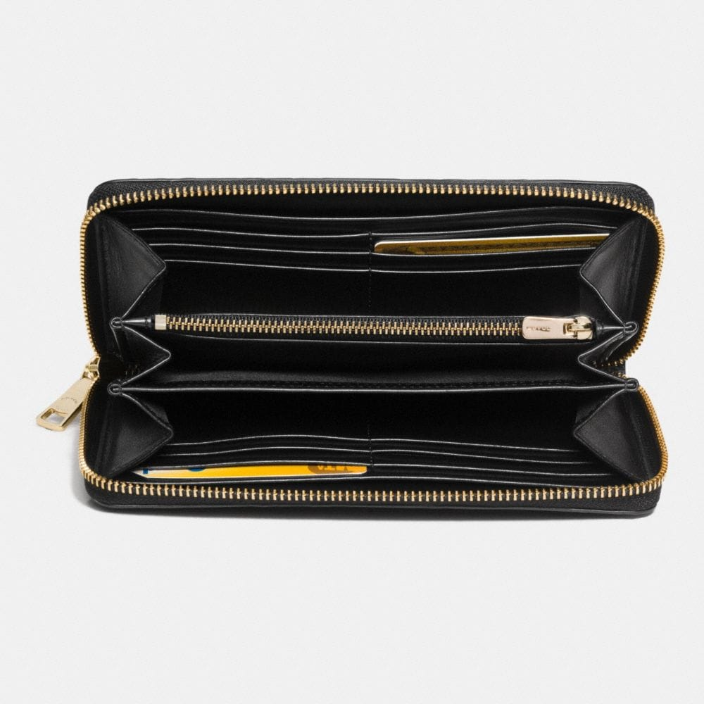 Accordion Zip Wallet in Snake Embossed Leather - Alternate View L1