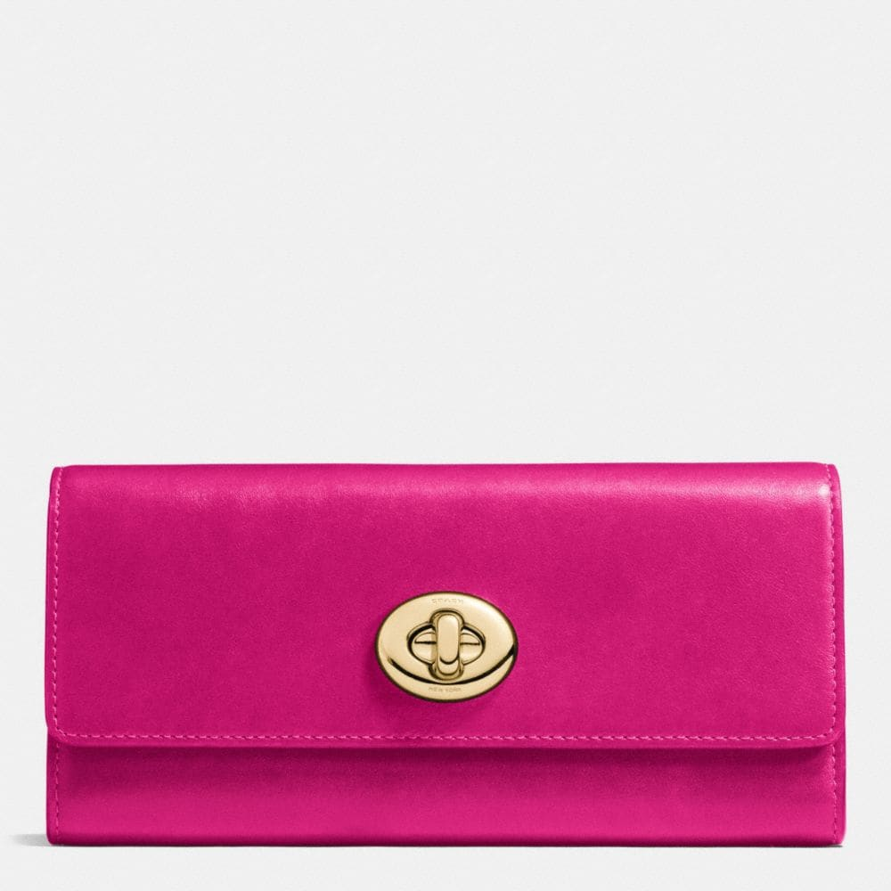 Coach Turnlock Slim Envelope Wallet in Smooth Leather