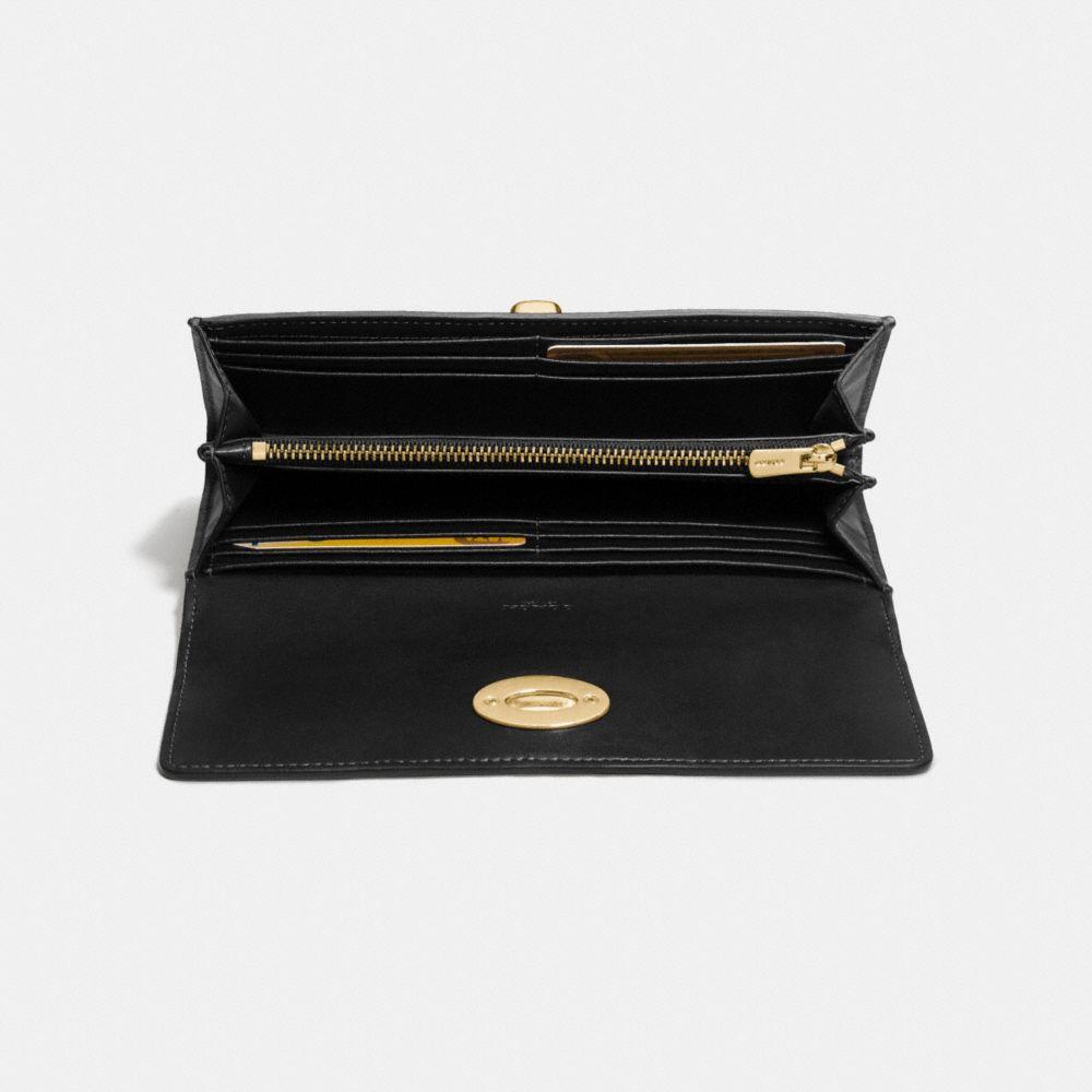 Turnlock Slim Envelope Wallet in Smooth Leather - Alternate View L1