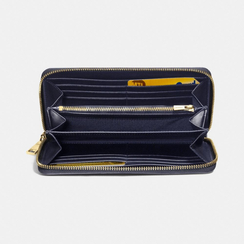 ACCORDION ZIP WALLET IN COLORBLOCK EXOTIC EMBOSSED LEATHER - Alternate View L1