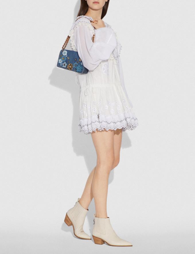 Coach Dinky With Tea Rose Denim/Brass Women Bags Crossbody Bags Alternate View 5