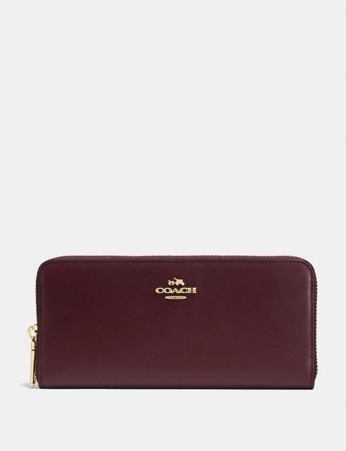 Coach Slim Accordion Zip Wallet Li/Oxblood SALEDDD Women's Sale New to Sale New to Sale