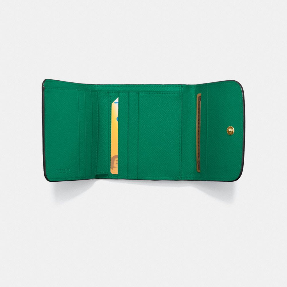 Small Wallet in Crossgrain Leather - Alternate View L1