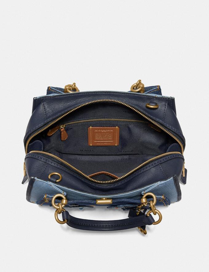 Coach Dreamer With Tea Rose Denim/Brass Women Bags Satchels & Carryalls Alternate View 2