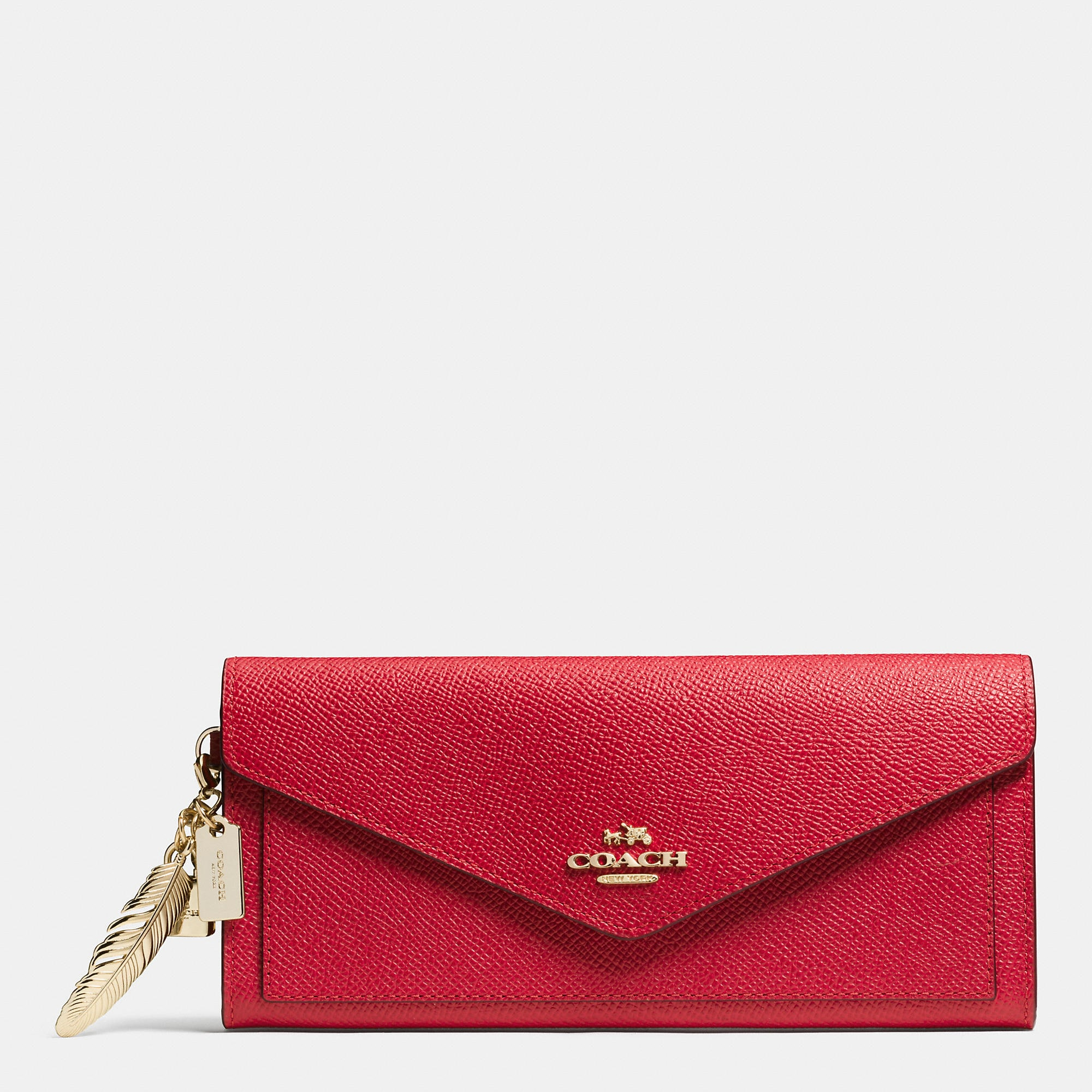 Coach Chinese New Year Soft Wallet In Crossgrain Leather