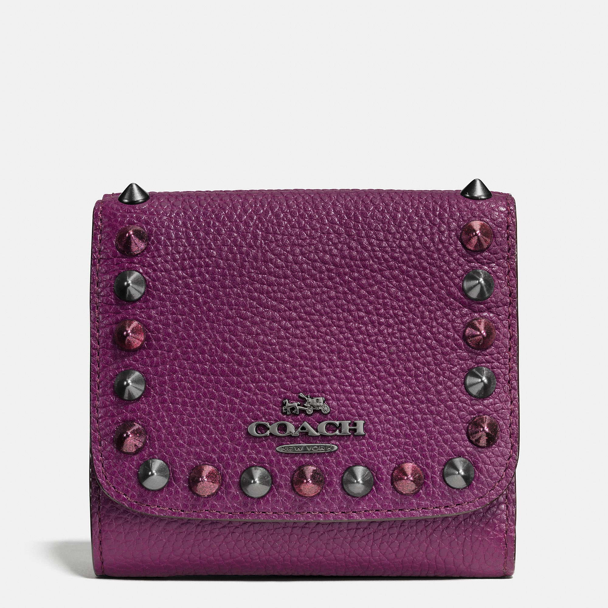 Coach Outline Studs Small Wallet In Leather