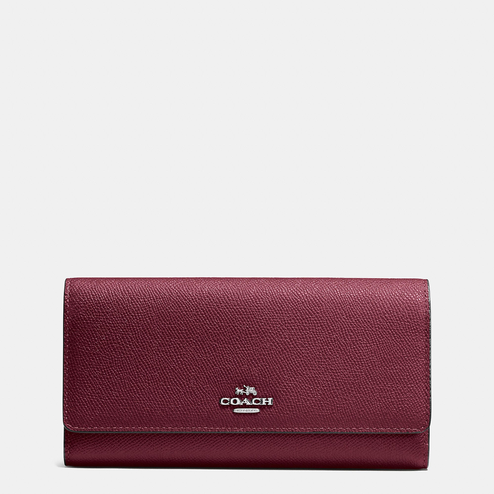 Coach Trifold Wallet In Crossgrain Leather