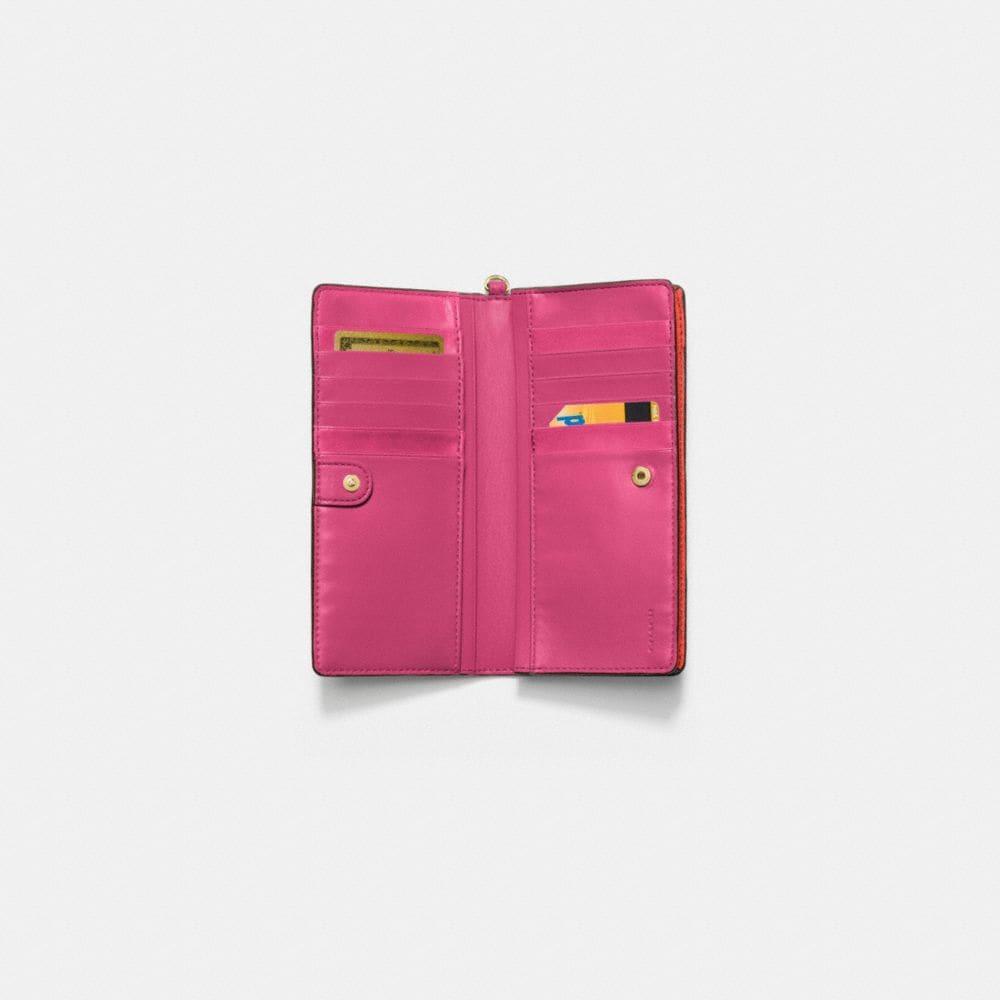 Slim Wallet in Colorblock Leather - Alternate View L1