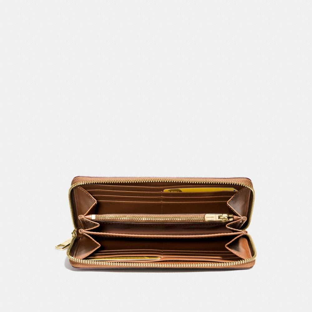 Accordion Zip Wallet in Pebble Leather - Alternate View L1