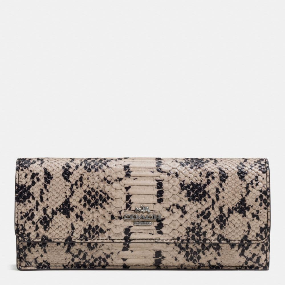 Soft Wallet in Exotic Embossed Leather