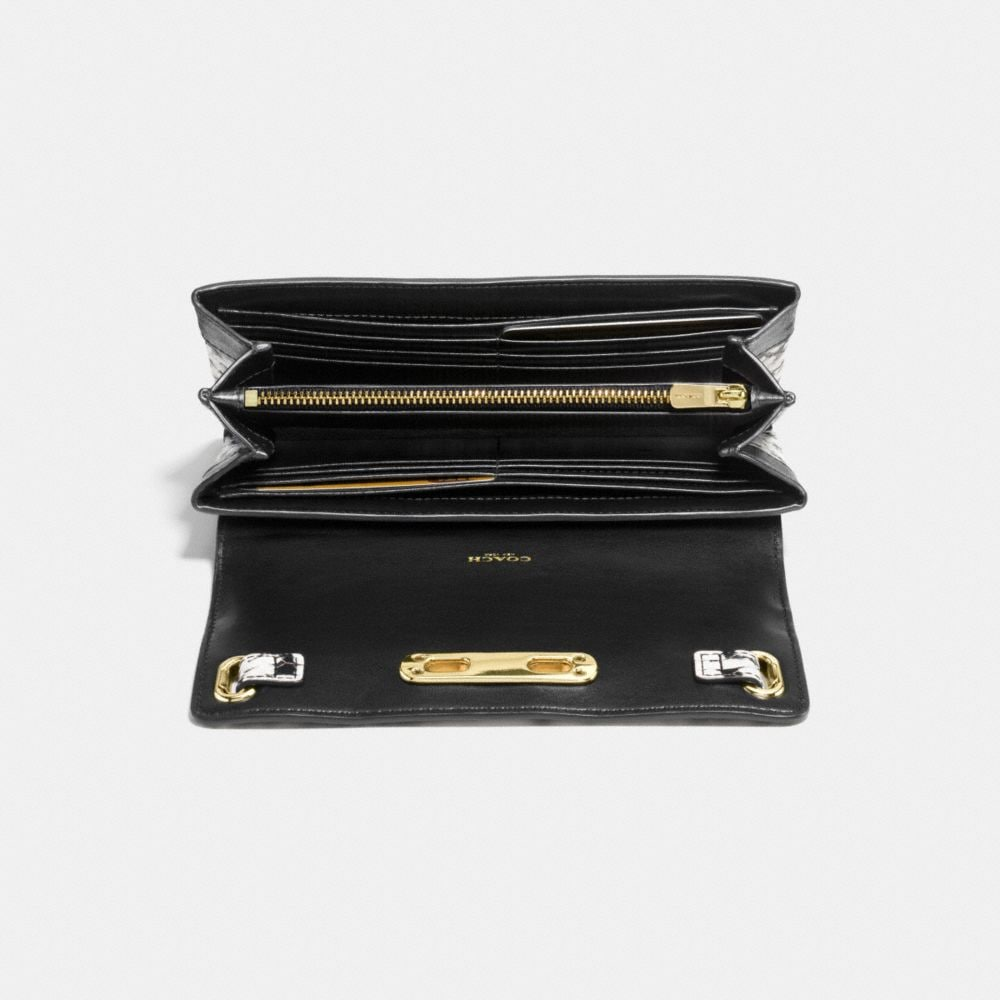Coach Swagger Wallet in Colorblock Exotic Embossed Leather - Alternate View L1