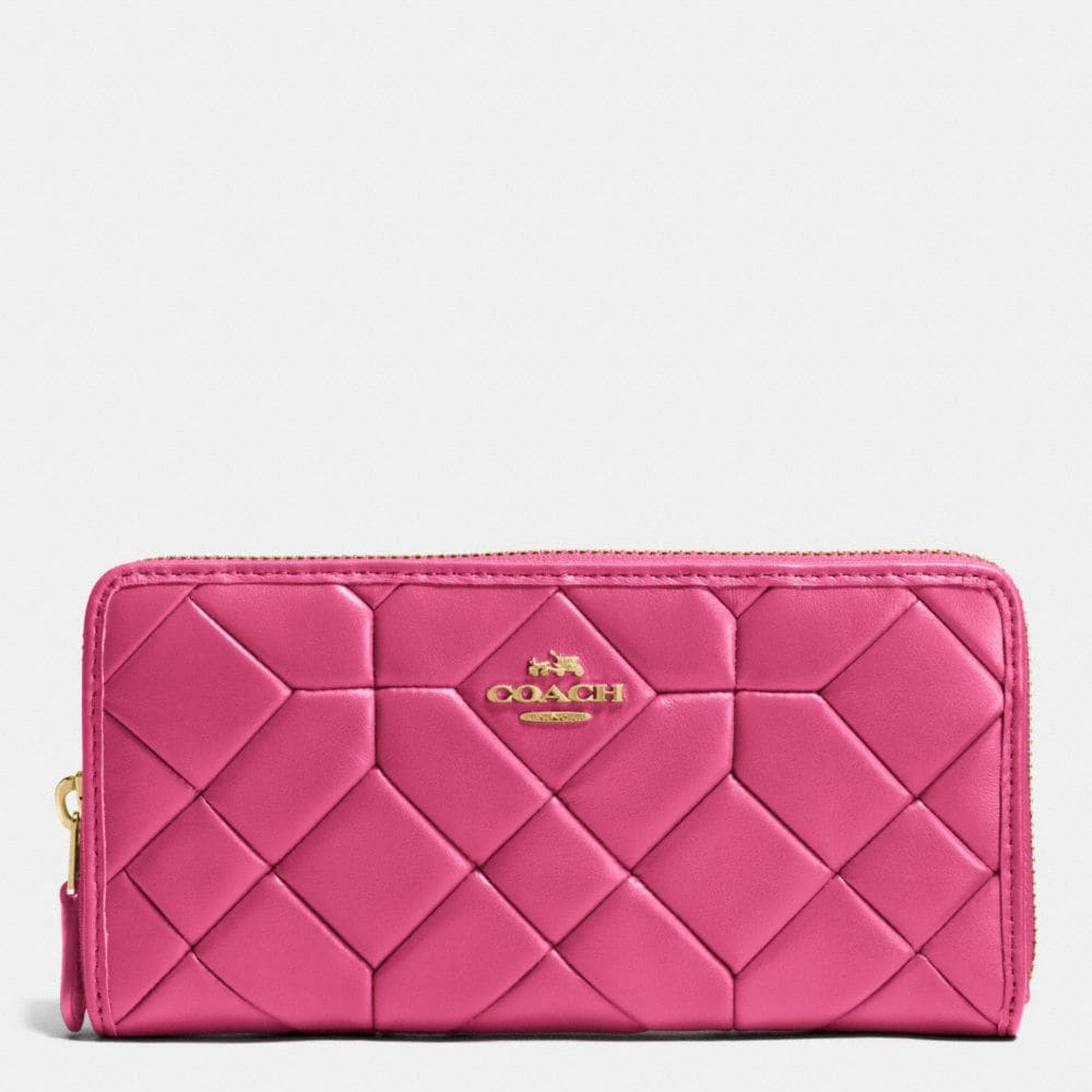 Canyon Quilt Accordion Zip Wallet in Calf Leather