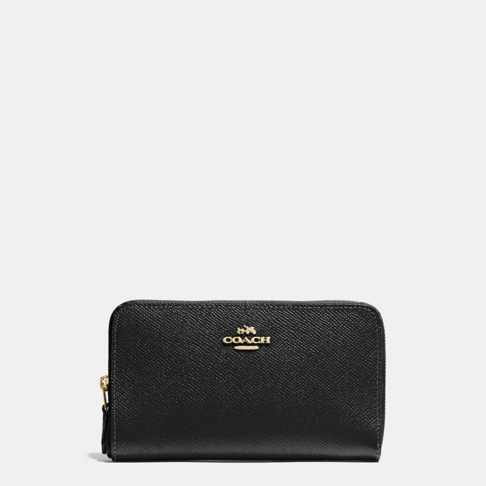 MEDIUM ZIP AROUND WALLET IN CROSSGRAIN LEATHER