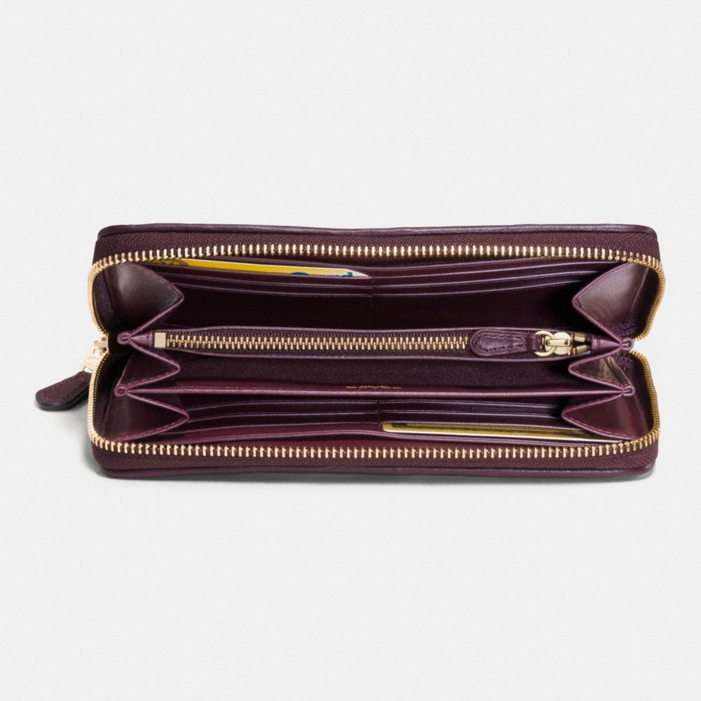Canyon Quilt Accordion Zip Wallet in Exotic Embossed Leather - Autres affichages L1