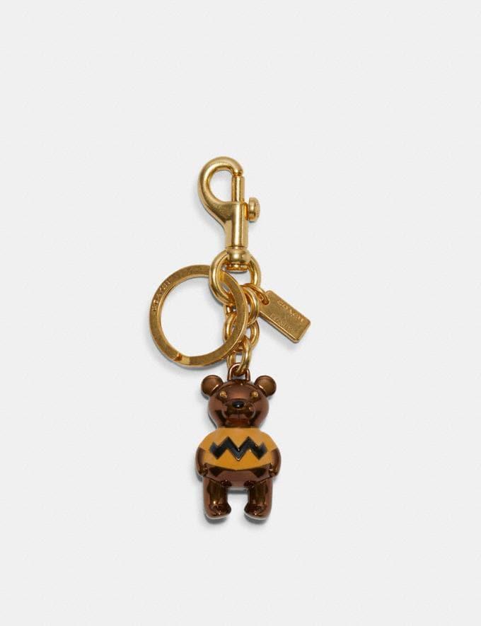 Coach Coach X Peanuts Charlie Brown Bear Bag Charm Im/Ochre DEFAULT_CATEGORY