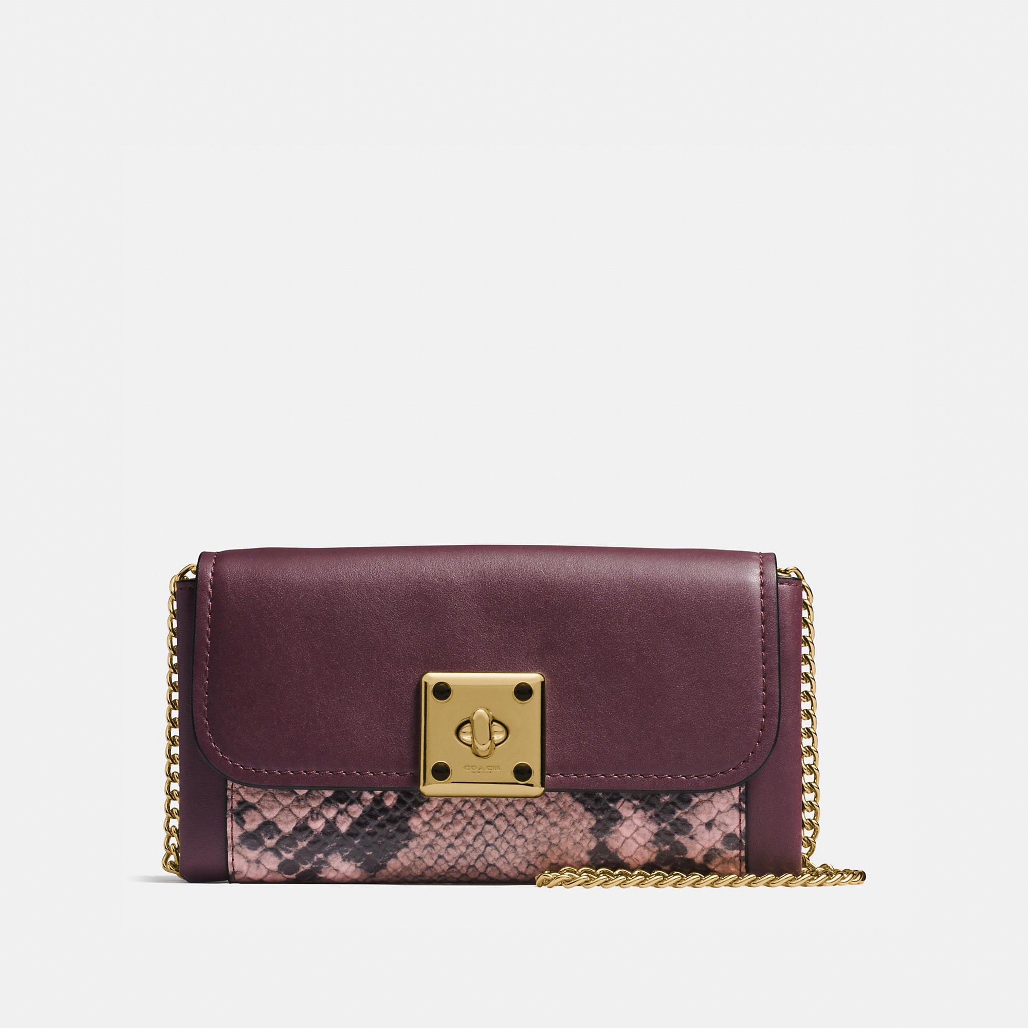 Coach Drifter Wallet In Exotic Embossed Leather