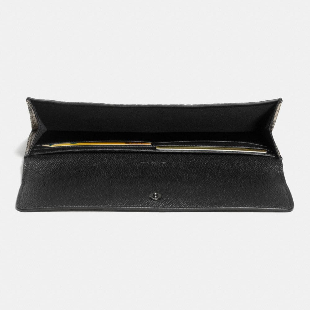 Soft Wallet in Python Embossed Leather - Alternate View L1